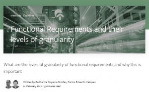 Requisitos Funcionais e seus níveis de granularidade